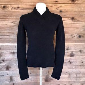 Prana Black Breathe Soft Fuzzy Sweater Med